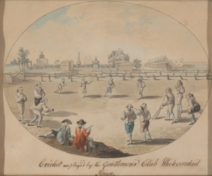 Cricket drawing cricket in the 1800s